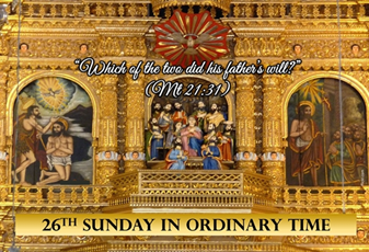 26th Sunday in Ordinary Time Greetings from our Pastor