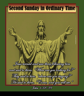 Greetings from our Pastor on the Second Sunday in Ordinary Time